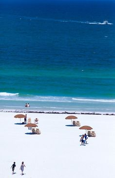Clearwater Beach, Florida. The whitest softest sand that you will ever see
