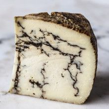 White Truffle Moliterno, a sheep's milk cheese from Sardinia that is shot through with ribbons of white truffles - Truffle Cheese, Food Log, White Truffle, What Recipe, Milk And Cheese, Artisan Cheese, How To Make Cheese, Making Cheese, Cheese Lover