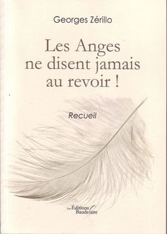 #littérature #poésie : Les Anges Ne Disent Jamais Au Revoir ! - Recueil de Georges Zérillo. Les Ed. Baudelaire, 2012. 251 pp. brochées.
