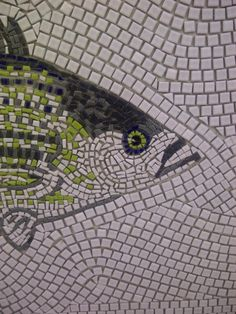 Detail of the fish mosaic.