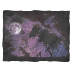 Lunar Gaze Fleece Blanket