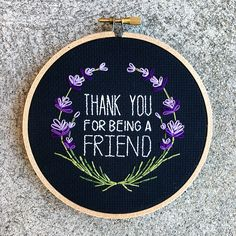 Thank You For Being A Friend 5 cross stitch by houseofmiranda