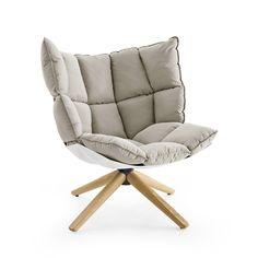 #home  -->  B&B Italia -  Möbel / Stühle / Sessel -  Husk Sessel Sessel B&B Italia Ausführun mit umschliessender Rückenlehne Bezu Stoff Sitzschale: weiss --> €  2248.00 // check out more --> designwebstore.de
