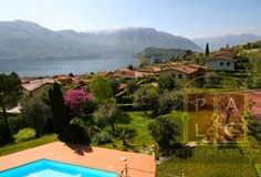 Property for fantastic holidays on lake Como for sale with tennis court and swimming pool