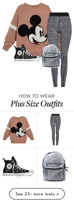 """Untitled #311"" by lozzydutton01 on Polyvore featuring Topshop and Converse"
