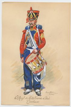 French; Foot Artillery, 6th Regiment, Drummer by P.A. Leroux