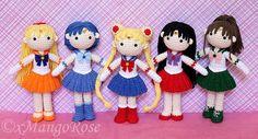 Sailor Moon Plüsch Amigurumi Puppe Crochet Pattern von xMangoRose
