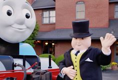 Video! Watch Thomas and Sir Topham Hatt spend a Day Out at the Strasburg Rail Road in Pennsylvania, http://www.thomastrainrides.com/fun-and-games.html#04jun15