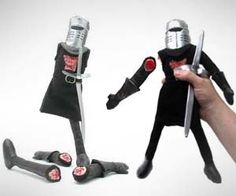 It's only a flesh wound.  I have one of these...the arms and legs velcro off and on.  Fun to play with and freak out your nieces and nephews with.    ~Steph~