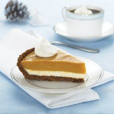 Did Cinderella have it all wrong? This Double-Layer Pumpkin Pie proves the pumpkin is better than the prince! Enjoy this creamy Double-Layer Pumpkin Pie. Double Layer Pumpkin Pie, Pumpkin Pecan Pie, Cheese Pumpkin, Canned Pumpkin, Pumpkin Puree, Pumpkin Recipes, Cool Whip Desserts, Homemade Desserts, Kraft Recipes