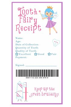 I love the idea of a tooth fairy receipt for down the road when Sweet Pea starts loosing her baby teeth. I also love the idea of a fairy door somewhere in her nursery. Tooth Fairy Receipt and many other awesome printables My Baby Girl, Baby Love, Tooth Fairy Receipt, Tooth Fairy Note, Tooth Fairy Doors, Tooth Fairy Certificate, First Tooth, Little Doll, Future Baby