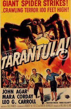 Vintage Science Fiction Horror Movie Poster Tarantula - 11 x 17 Inch Poster | eBay