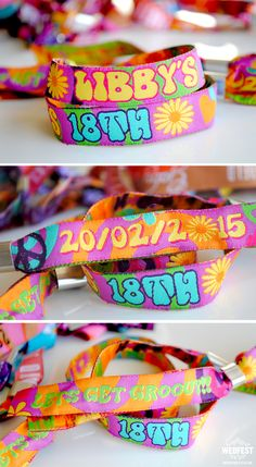 Custom Party Wristbands http://www.wedfest.co/custom-personalised-wristbands/