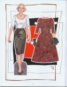 """Hitchcock blonde star of """"North by Northwest.""""  Paper Doll created by David Wolfe for Paper Doll Studio Magazine, issue 112 2015."""