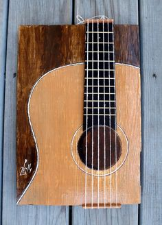 Classical guitar detail 3D art with real fretboard by Sunitalap, $100.00