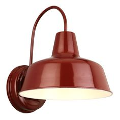 Design House Mason RLM Red Outdoor Wall-Mount Dark-Sky Downlight-520559 - The Home Depot