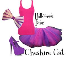 """Halloween: Cheshire Cat"" by disneydiva305 ❤ liked on Polyvore"