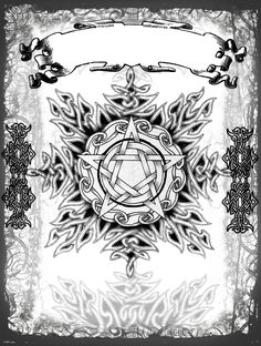 OMFG this would be an amazing addition to my backpiece tattoo... althought the pentacle would need ot be rotated into a pentagram.... wheels are turning in my brain now so watch me be at the tattoo shop tomorrow! <3 Tribal Pentacle Cover Page by Grim