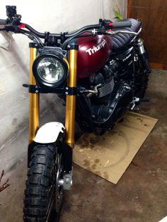 Cool Motorcycles, Vintage Motorcycles, Triumph Scrambler, Motorcycle Design, Custom Bikes, Motorbikes, Yamaha, Harley Davidson, Vehicles