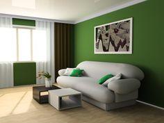 Colores de living: prueba con el verde