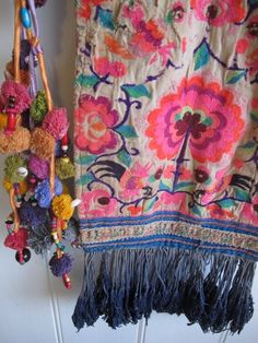 Some scarves are worn in my hair or with special outfits, but some scarves are hung on the wall, just because they are so beautiful...