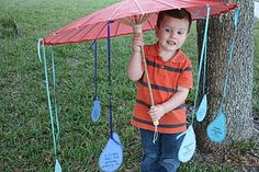 Nursery - rainy season - have them pick a rain drop for the song to sing