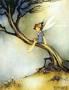 vintageillustration:  Teeny Weeny Fairy (via finsbry)