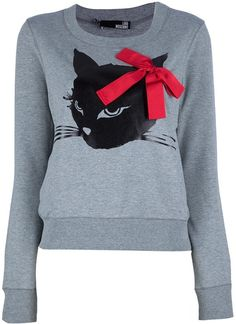 Catprint Sweater - Lyst by Moschino