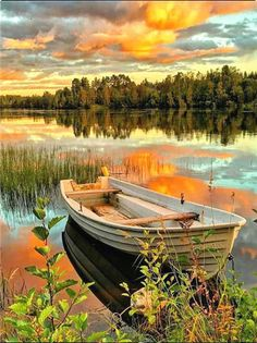 Lone Boat on Lake - Paint By Numbers Kit - 16x20/40x50cm - No Frame