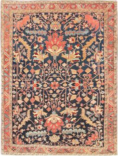 Antique Persian Heriz Serapi Rug 47295 Main Image - By Nazmiyal