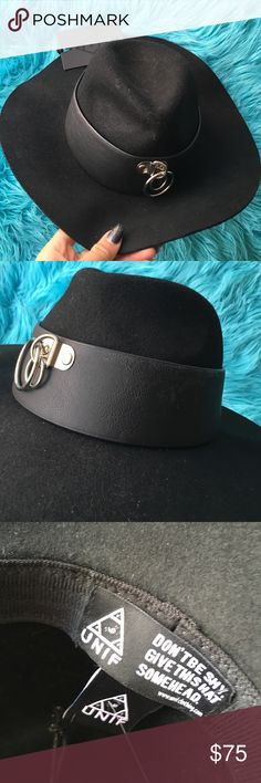 UNIF VAULT HAT NEW WITH TAGS BLACK Brand new awesome hat has a small like fade on the band but is new UNIF Accessories