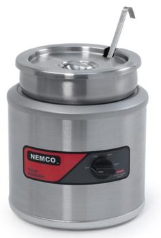 Small Kitchen Appliances: Nemco Countertop Single Well 4-Quart Warmer With Cover/Inset/Ladle -- Click on the image for additional details. http://www.amazon.com/gp/product/B004RXESB8/?tag=easyrecipes078-20&pop=140916084216