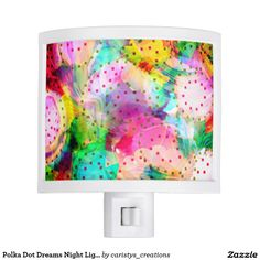 Shop Polka Dot Dreams Night Light created by caristys_creations. Dream Night, Nursery Night Light, Out Of The Dark, Nightlights, Business Supplies, Nursery Room, Party Hats, Your Child, Birthday Parties