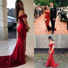 Mermaid Prom Gowns Sexy Open Backs V neckline Burgundy Red Evening Dress Trumpets Shape Dress