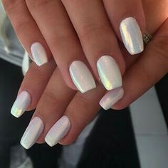 girly, heart, love, mermaid, nails