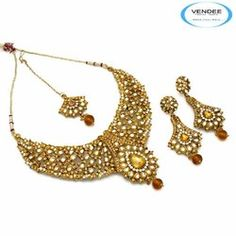 Fashion Diamond Necklace Jewelry Set