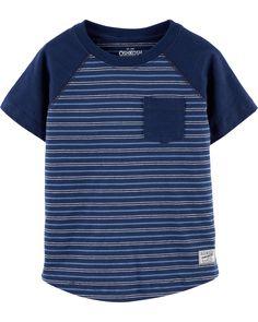 OshKosh BGosh Boys Striped Jersey Sweatshirt Tee Ivory.Navy Size 12