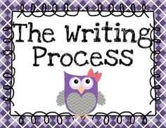 FREEBIE!! Owl Themed Writing Process posters