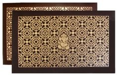 Hindu Wedding Cards in Brown gold with ganesh card