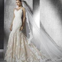 2016 San Patrick Bridal Collection Part I Bella Wedding Dress, Bella Bridal, Wedding Dress With Veil, Elegant Wedding Dress, Bridal Wedding Dresses, One Shoulder Wedding Dress, Lace Wedding, Disney Family, San Patrick