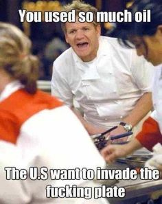 Classic Gordon Ramsey.   funny pictures