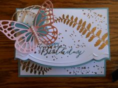 Basic Butterfly Birthday by Linda Creech,  Butterfly Basic set with a elegant edge...........