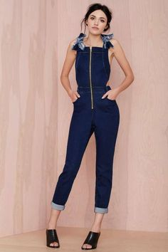 Three Floor LA Attitude Denim Jumpsuit - Clothes