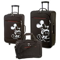 Mickey Mouse Luggage - I have got to have this. OMG!! I love it!