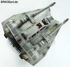 Star Wars: Luke Skywalkers T-47 Snowspeeder » Typ: Fertig-Modell » Hersteller: Bandai / SPACEart » https://spaceart.de/produkte/sw083.php