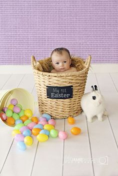 baby in an easter basket picture ideas