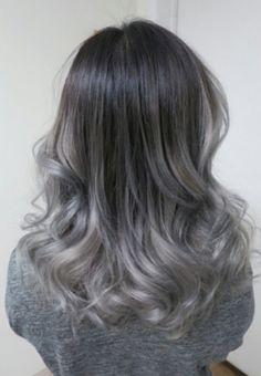 Silver gray ombré