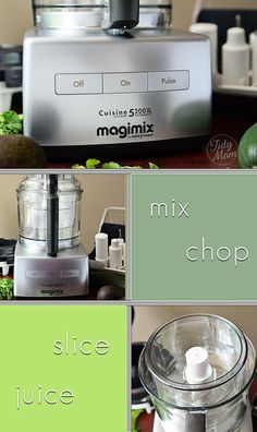 The Magimix 5200XL Food Processor has a nice large feed tube & pusher for greater convenience & speed. can be used left or right handed, features a commercial grade 1100w motor and  3 mixing bowls. This machine is a real workhorse for any kitchen! - Giveaway at TidyMom.net