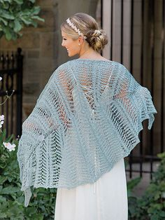 Knitting pattern for a lacy spring shawl knit