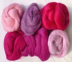 Merino Wool Tops Multi Pinks